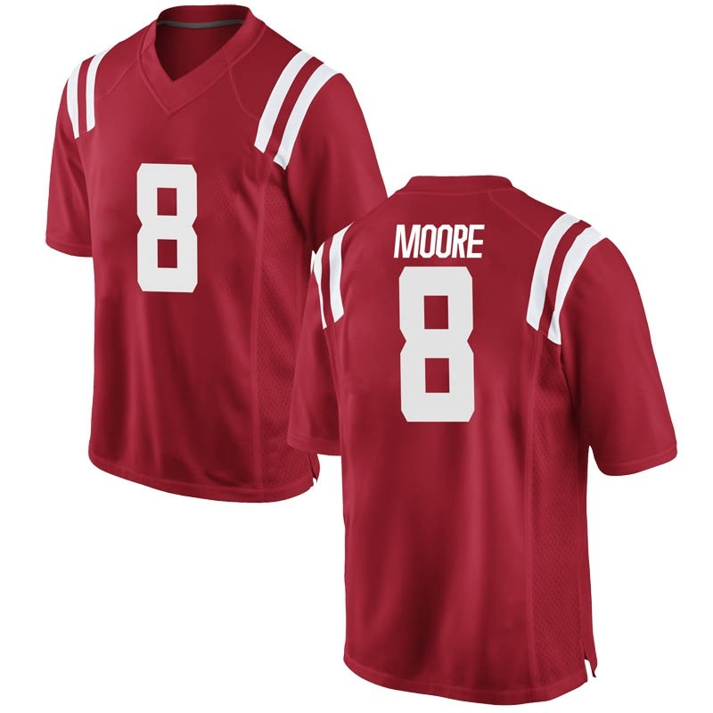 Replica Youth Elijah Moore Ole Miss Rebels Red Football College Jersey